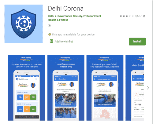 Delhi Corona Android and IOS mobile app