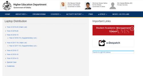 Odisha laptop distribution application from