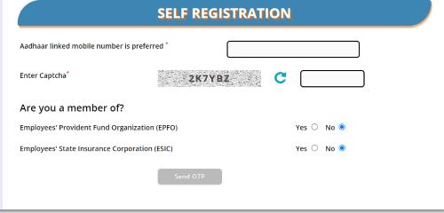 register in E Shram Portal self